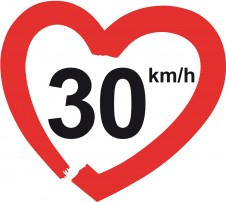 """30km/h - macht die Straen lebenswert!"""